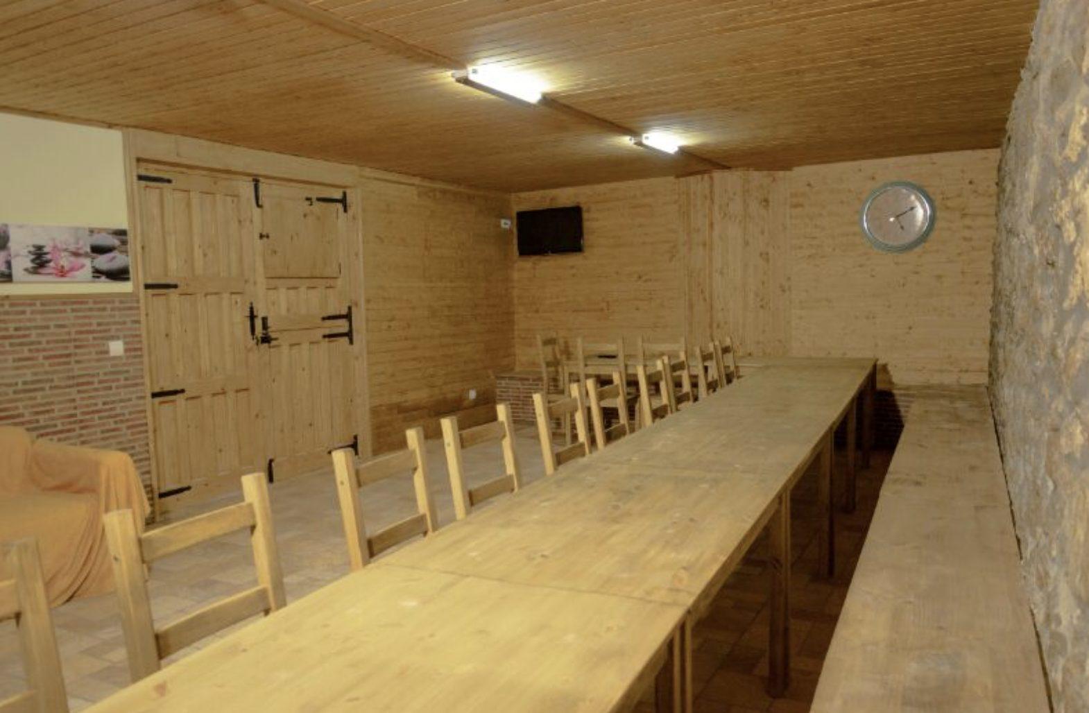 Salón comedor del Albergue